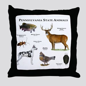 Pennsylvania State Animals Throw Pillow