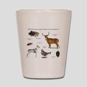 Pennsylvania State Animals Shot Glass