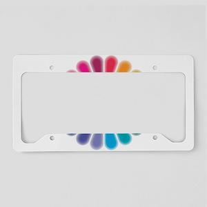 Om Rainbow Flower License Plate Holder