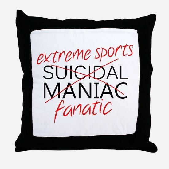 'Extreme Sports' Throw Pillow