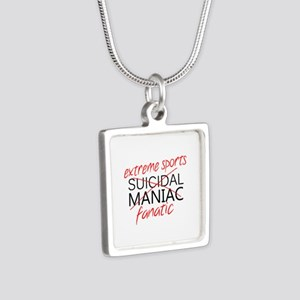 'Extreme Sports' Silver Square Necklace