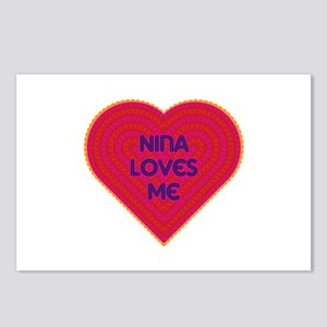 Nina Loves Me Postcards (Package of 8)