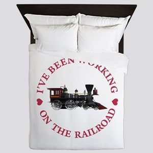 I've Been Working On The Railroad Queen Duvet