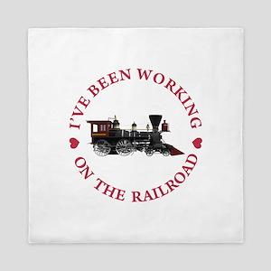 I've Been Working On The Railroad Queen Duvet