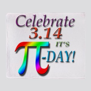Pi Day Throw Blanket