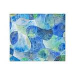 Aquatic Abstract Throw Blanket