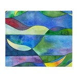 Jungle River Abstract Throw Blanket