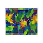 Leaf Mosaic Throw Blanket