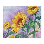 Sunny Sunflowers Throw Blanket