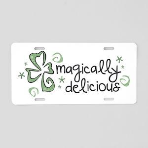 Magically Delicious Aluminum License Plate