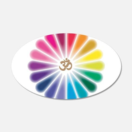 Om Rainbow Flower Wall Decal