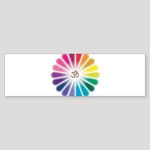 Om Rainbow Flower Bumper Sticker