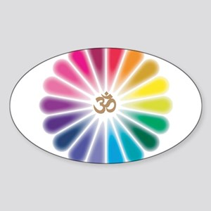 Om Rainbow Flower Sticker