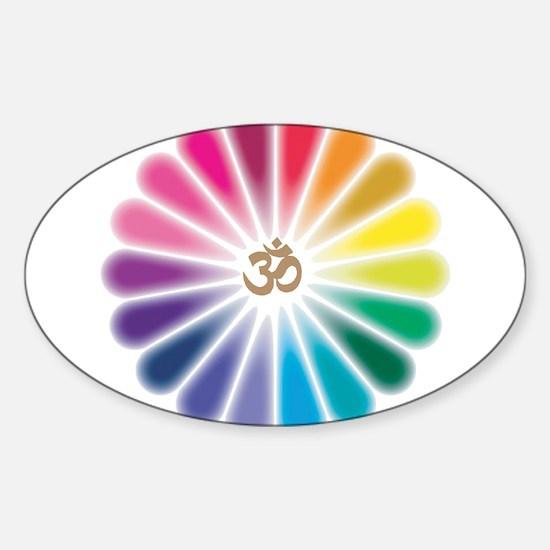 Om Rainbow Flower Decal