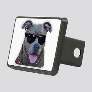 Pitbull in sunglasses Hitch Cover