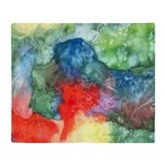 Breach of Containment Watercolor Throw Blanket