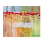 Colorfields Abstract Throw Blanket