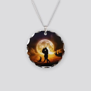 Unspoken Mermaid Necklace Circle Charm