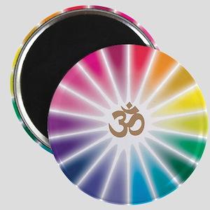 Om Rainbow Flower Magnet
