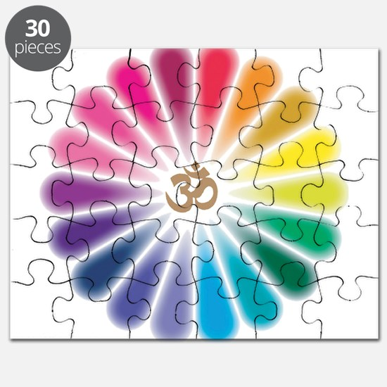 Om Rainbow Flower Puzzle