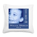 Will's World Square Canvas Pillow