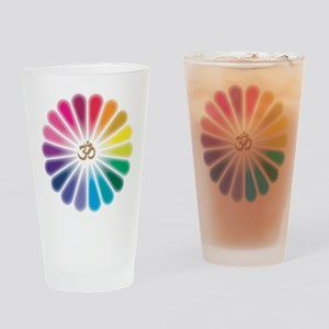 Om Rainbow Flower Drinking Glass