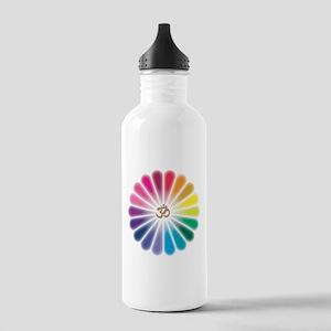 Om Rainbow Flower Water Bottle