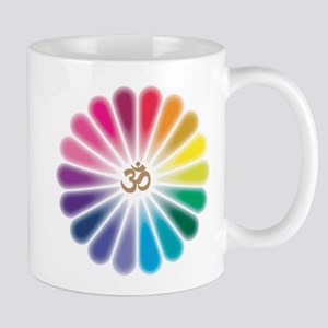 Om Rainbow Flower Mug