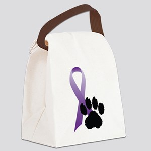 Purple-Ribbon-Pawprint-Black-Pawprint Canvas L