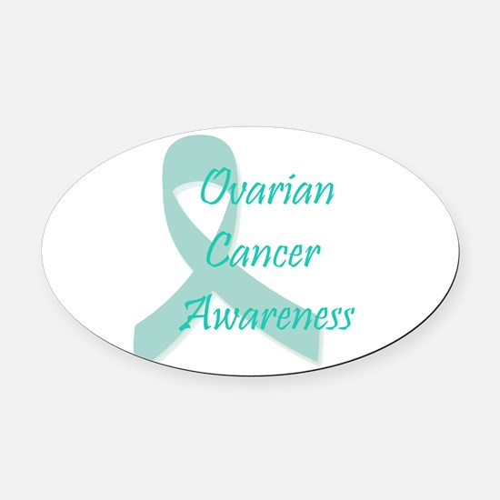 Ovarian Cancer Awareness Oval Car Magnet