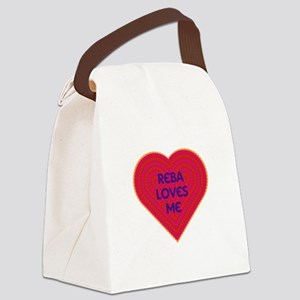 Reba Loves Me Canvas Lunch Bag