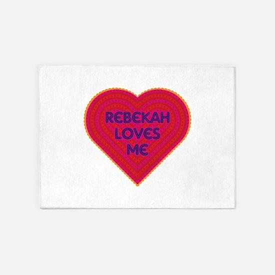 Rebekah Loves Me 5'x7'Area Rug
