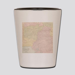 Vintage Central Asia Map Shot Glass