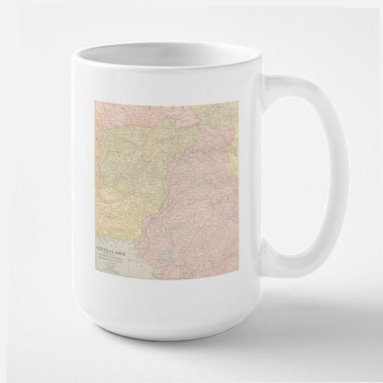 Vintage Central Asia Map Mug