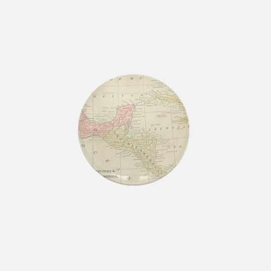 Vintage Central America Map Mini Button