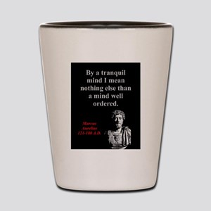 By A Tranquil Mind - Marcus Aurelius Shot Glass