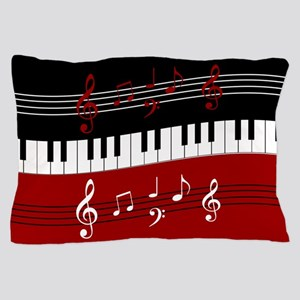 Stylish Piano keys and musical notes Pillow Case