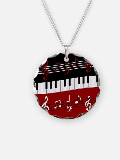 Stylish Piano keys and music Necklace