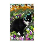 Freckles Tux Cat Easter Eggs Mini Poster Print
