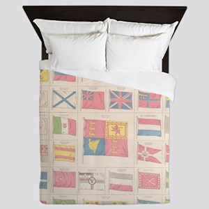 Flags of the World Queen Duvet