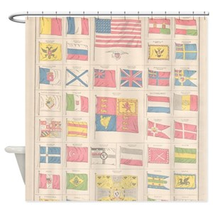 Flags Of The World Shower Curtains