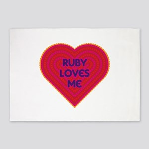 Ruby Loves Me 5'x7'Area Rug
