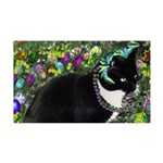 Freckles Tux Cat Easter Eggs 35x21 Wall Decal