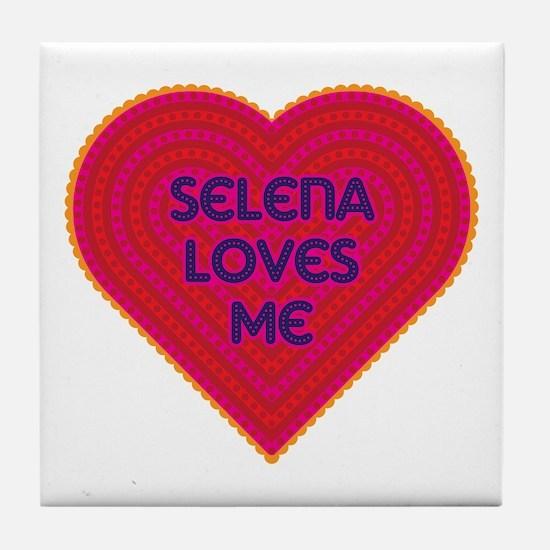 Selena Loves Me Tile Coaster