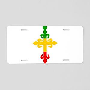 Ethiopian Cross Aluminum License Plate