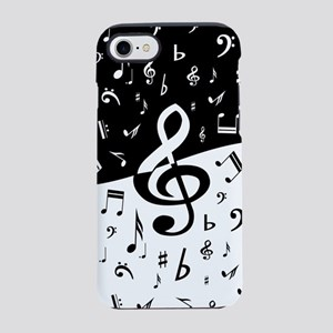 Stylish random musical notes iPhone 7 Tough Case