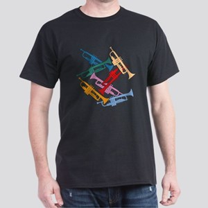 Colorful Trumpets Dark T-Shirt