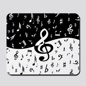 Stylish random musical notes Mousepad