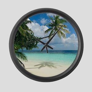 Tropical beach - Large Wall Clock