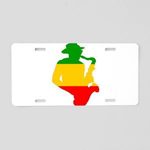 Rasta Sax Aluminum License Plate